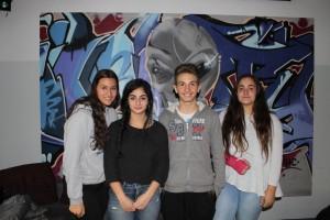 Die neuen Schülersprecher Elif, Asya, Valentina und Paolo (v.l.n.r.)